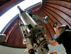 Father Emmanuel Carreira at the Vatican Observatory in Castel Gandolfo in 2005