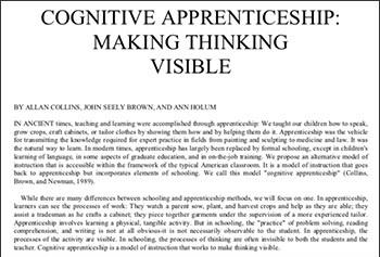 cognitive-apprenticeship